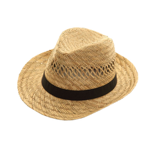 Load image into Gallery viewer, Adonis & Grace Straw Mens Fedora Hat Trilby - BrandClearance