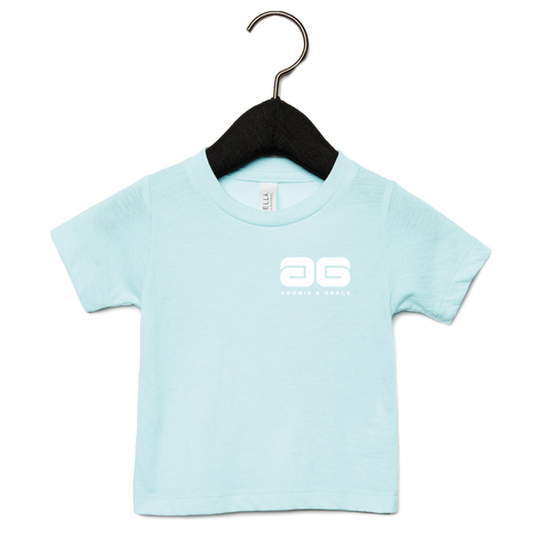 Adonis & Grace Baby Triblend Short Sleeve T-Shirt Ice Blue