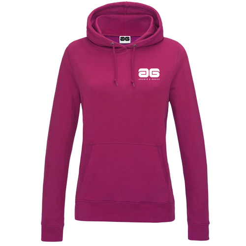 Adonis & Grace Original Girlie College Hoody Hot Pink