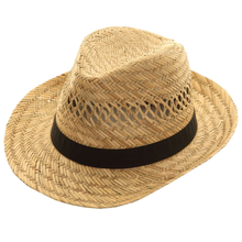 Load image into Gallery viewer, Adonis & Grace Straw Mens Fedora Hat Trilby