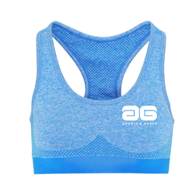 Load image into Gallery viewer, Adonis & Grace Multi Fit 3D Seamless Sports Bra Blue