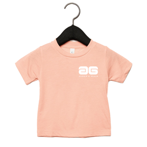 Adonis & Grace Baby Triblend Short Sleeve T-Shirt Peach
