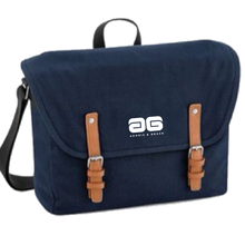 Load image into Gallery viewer, Adonis & Grace Luxury Vintage Messenger Bag Navy
