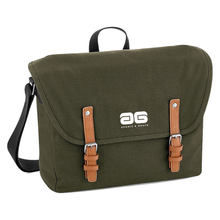 Load image into Gallery viewer, Adonis & Grace Luxury Vintage Messenger Bag Green