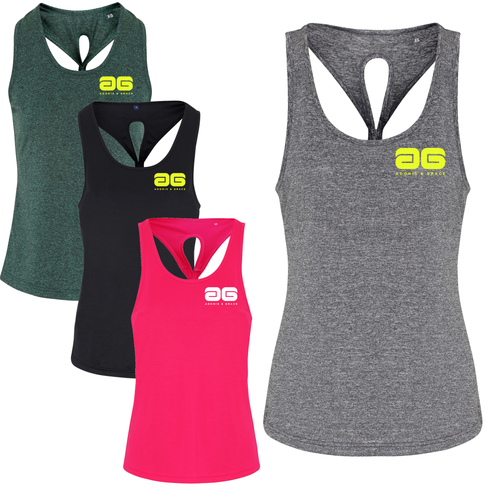 Adonis & Grace Dri Fit Gym Yoga Knot Vest