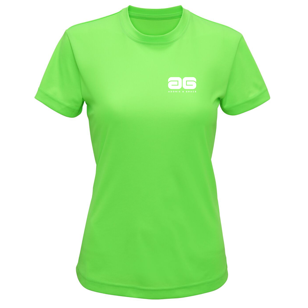 Adonis & Grace Technical Training T Shirt Lightening Green