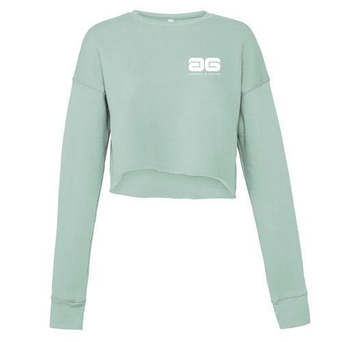 Adonis & Grace Cropped Crew Gym Fleece Dusty Blue