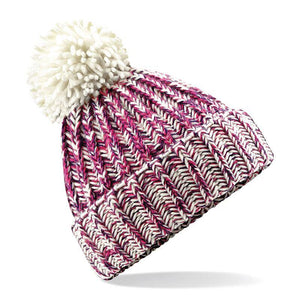 Adonis & Grace Twisted Pom Pom Winter Beanie Fuschia - BrandClearance