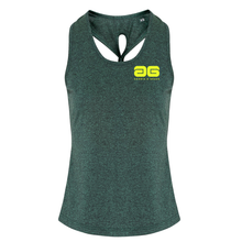 Load image into Gallery viewer, Adonis & Grace Dri Fit Gym Yoga Knot Vest Green