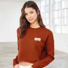 Load image into Gallery viewer, Adonis & Grace Cropped Crew Gym Fleece Red