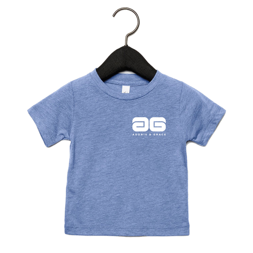 Adonis & Grace Baby Triblend Short Sleeve T-Shirt Blue
