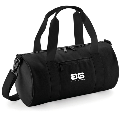 Adonis & Grace Mini Barrel Gym or Work Carry Bag Black