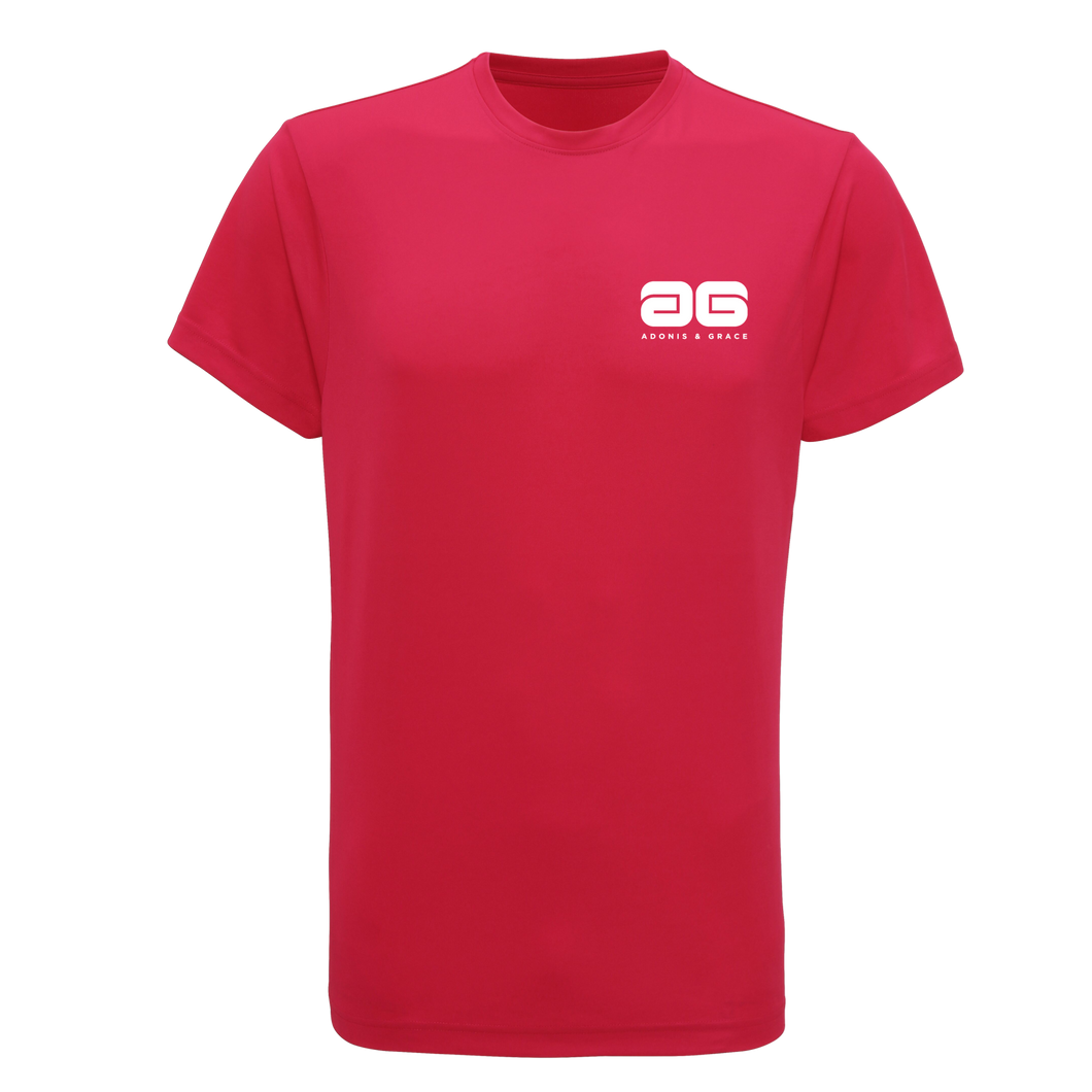 Adonis & Grace Neon Training (Slim Fit) T Shirts Pink