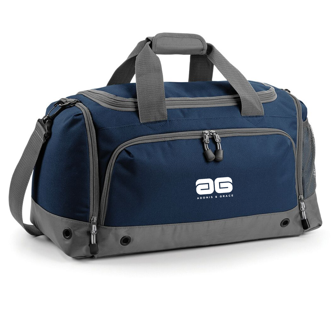 Adonis & Grace Gym Duffel Travel Holdall Bag Navy