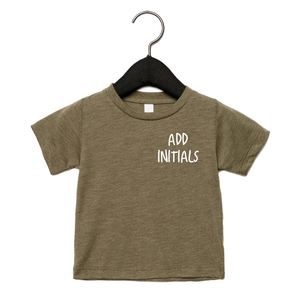 Adonis & Grace (Personalised) Baby Triblend Short Sleeve T-Shirt Olive