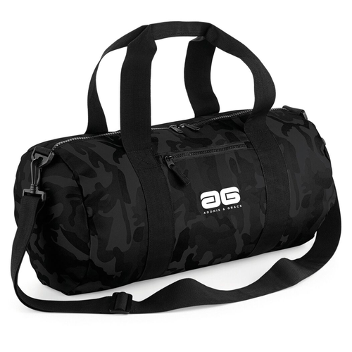 Adonis & Grace Camo Barrel Gym Bag Midnight Camo