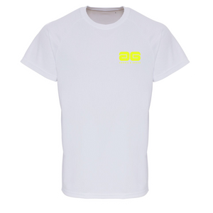 Adonis & Grace Mens Embossed Training T-Shirt White