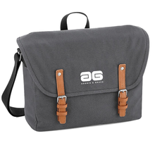 Load image into Gallery viewer, Adonis & Grace Luxury Vintage Messenger Bag Grey