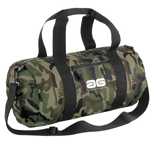 Adonis & Grace Camo Barrel Gym Bag Jungle Camo