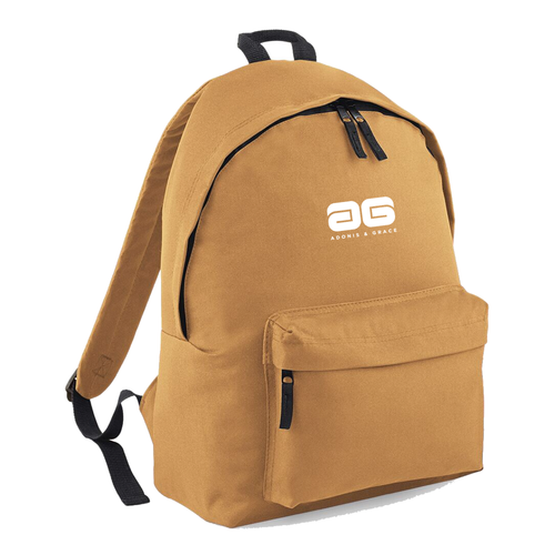 Adonis & Grace Mens Original Fashion Backpack Caramel