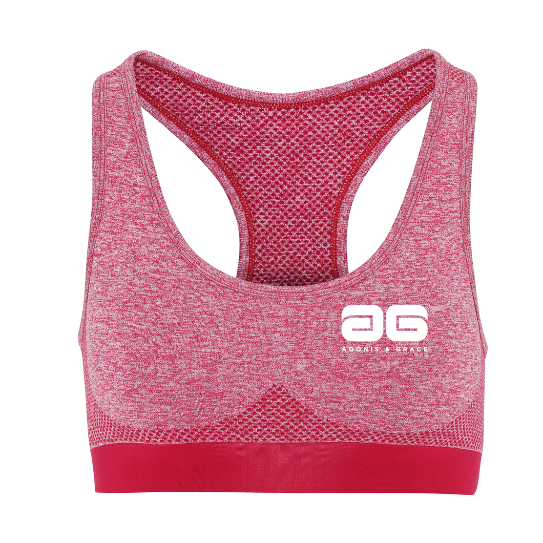 Adonis & Grace Multi Fit 3D Seamless Sports Bra Burgandy