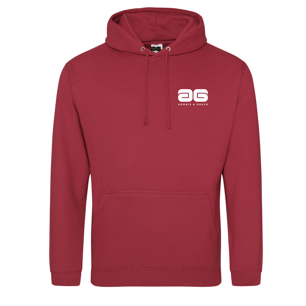 Adonis & Grace College Hoodie Original Fashion Brick Red
