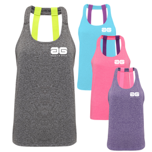 Adonis & Grace Double Strap Training Yoga Vest Purple