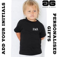 Load image into Gallery viewer, Adonis & Grace (Personalised) Baby Triblend Short Sleeve T-Shirt Blue