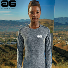Load image into Gallery viewer, Adonis & Grace Womens Seamless 3D Long Sleeve Top Charcoal