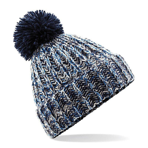 Adonis & Grace Twisted Pom Pom Winter Beanie Navy - BrandClearance
