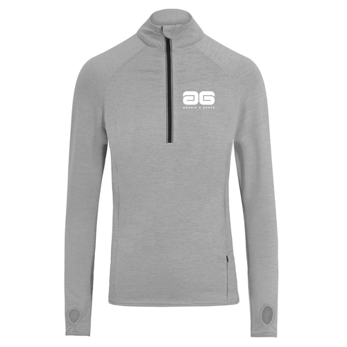 Adonis & Grace Cool Flex Half-Zip Top Grey