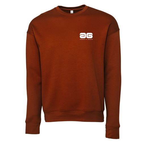 Adonis & Grace Unisex Drop Shoulder Fleece Brick Red