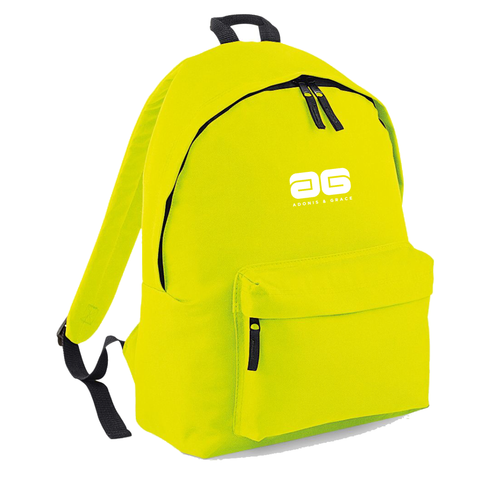 Adonis & Grace Mens Original Fashion Backpack Flo Yellow