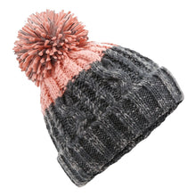 Load image into Gallery viewer, Adonis & Grace Apres Ski Bobble Beanie Hat Graphite Pink