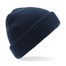 Load image into Gallery viewer, Adonis & Grace Classic Waffle Knit Beanie Hat Navy - BrandClearance