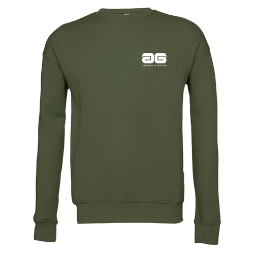 Adonis & Grace Unisex Drop Shoulder Fleece Military Green