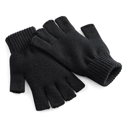 Adonis & Grace Fingerless Winter Gloves Black - BrandClearance