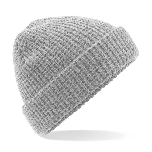Adonis & Grace Classic Waffle Knit Beanie Hat Grey - BrandClearance