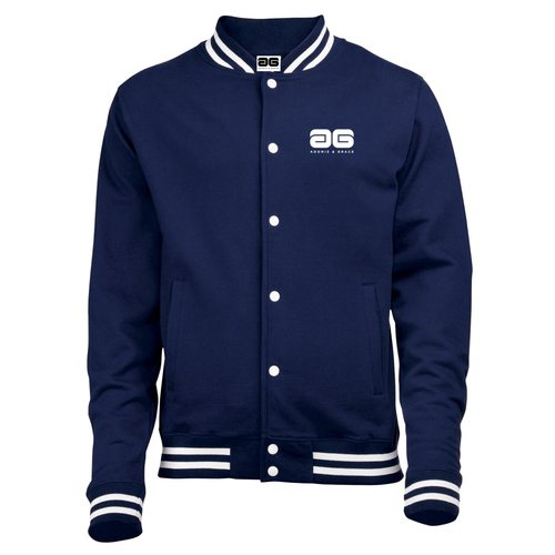Adonis & Grace College Button Varsity Jacket Navy