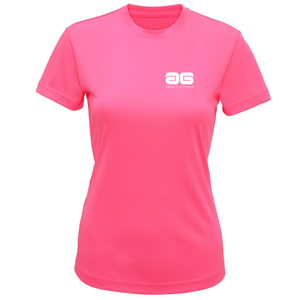 Adonis & Grace Technical Training T Shirt Lightening Pink