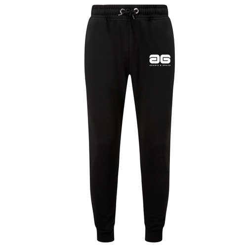 Adonis & Grace Slim Fit Mens Training Joggers Black