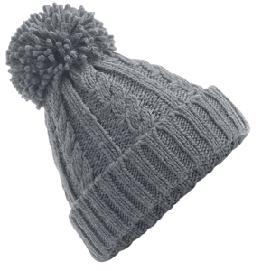 Adonis & Grace Cable Knit Melange Beanie Hat Grey