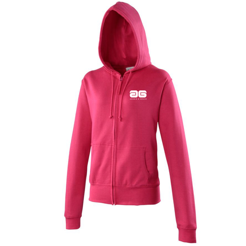 Adonis & Grace Womens Full Zip Hoody Pink