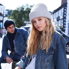 Load image into Gallery viewer, Adonis & Grace Classic Waffle Knit Beanie Hat Grey - BrandClearance