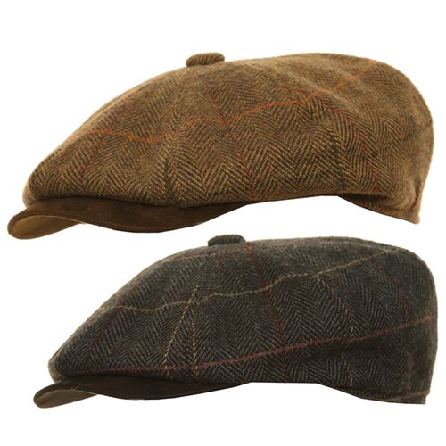 Adonis & Grace Mixed Tweed Peaky Blinders Flat Cap