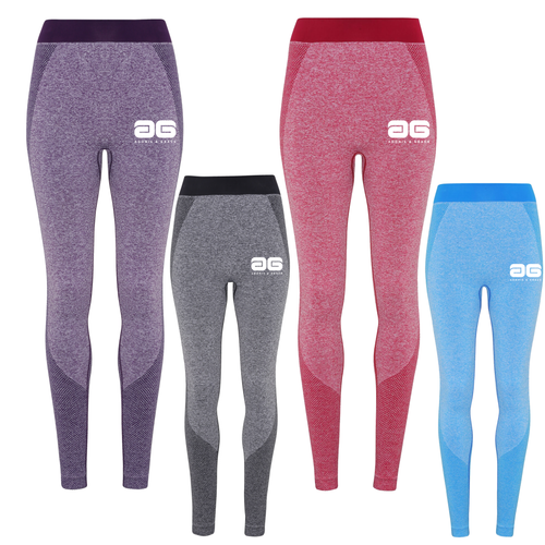 Adonis & Grace Ladies Seamless 3D Gym Leggings