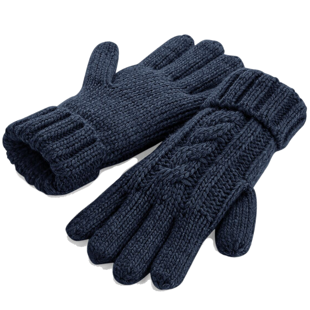 Adonis & Grace Cable Knit Winter Gloves Navy