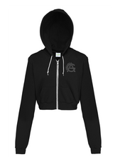 Load image into Gallery viewer, Adonis & Grace Cropped Hoody Black