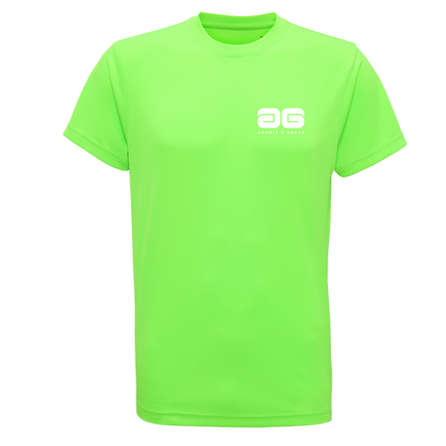 Adonis & Grace Neon Training (Slim Fit) T Shirts Green