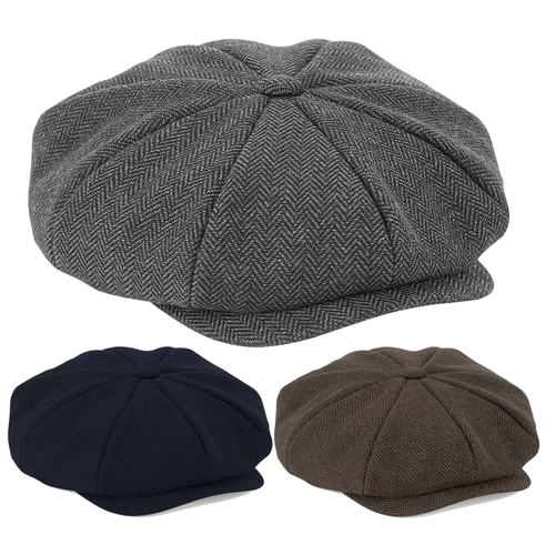 Adonis & Grace Peaky Blinder Style Cap (3 Colours)